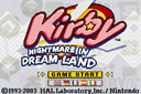 Playing: Kirby - Nightmare in Dream Land
